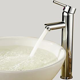 Bathroom Sink Faucet Diamond Shape Single Handle Chrome Finished Solid Brass Faucet
