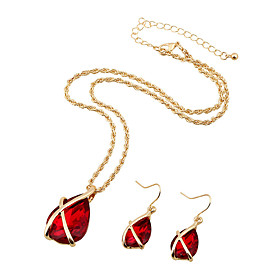 Delicate water ddrop jewelry Elegant Luxury Design New Fashion  Colorful beauty pendant Jewelry Sets Women Gift