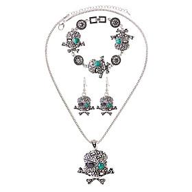 Schmuck Halsketten \/ Ohrringe \/ Armband Halskette \/ Armband \/ Halskette \/ Ohrringe Modisch Alltag \/ Normal 1 Set Herren Bezuge \/ Silber