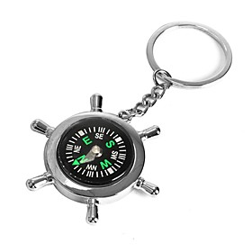 ZIQIAO Boat Helm Wheel Compass Keyring Novelty Key Ring Chain Keychain Zinc Alloy Gift