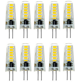 10PCS G4 12LED SMD5733 DC12V 500-600LM Warm White/White Decorative /Waterproof LED Bi-pin Lights