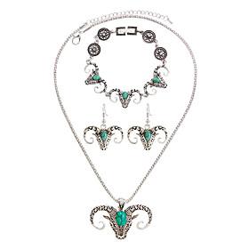 Schmuck Halsketten \/ Ohrringe \/ Armband Halskette \/ Armband \/ Halskette \/ Ohrringe Bohmen-Art \/ Stil Alltag \/ Normal 1 Set Damen Hellgrun