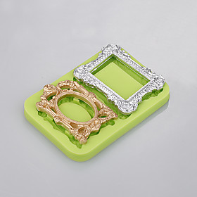 2 Cavity 3 D Silicone Mold Photo Frame Mould Cooking Cake For Easy Baking Tool Factory Ramdon Color 5299581