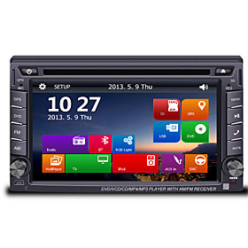 6.2 2Din TFT Touch Screen In-Dash Car DVD Player with GPS BT Radio SD/USB RDS  800480Screen Resolution
