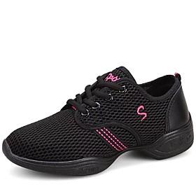 Non Customizable Women's Dance Shoes Fabric Fabric Dance Sneakers / Modern Sneakers Flat Heel Outdoor / Performance