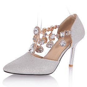 Women's Heels Spring / Summer / Peep Toe / Pointed Toe Customized Materials Wedding / Party  Evening / Dress 5260675