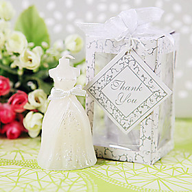 Bridal Wedding Dress Candle Favors Beter Gifts Bridesmaids  /  Bachelorette  /  Classic  /  Fairytale Party Giveaways