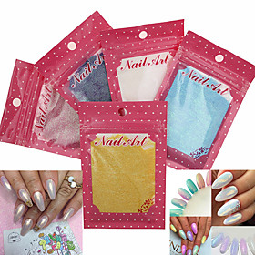 1PC Mermaid Nail Glitter Powder Gradient Shimmer Glitters Pigment Nail Powder  for Nail Art Decorations(Assorted Color)