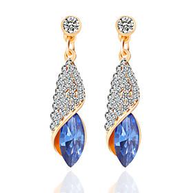 Women's Crossover Drop Earrings Hoop Earrings - Tassel, Bohemian, Punk White / Green / Blue For Wedding Party Daily / Casual