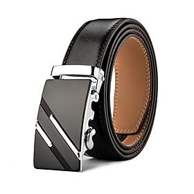 Mens Business Ratchet Belt Luxurious  Genuine Leather 5263529