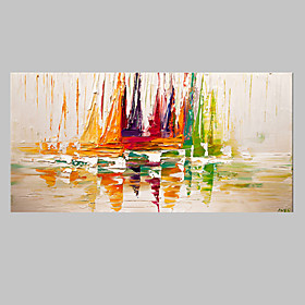 Oil Painting Hand Painted Abstract Modern Stretched Canvas