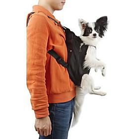 Cat Dog Carrier Travel Backpack Front Backpack Pet Baskets Solid Portable Breathable Black Orange Red Blue Pink For Pets