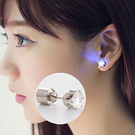 Christmas Flower Led Earrings Ear Stud Dance Party Accessories Flash LED Earrings Crystal Earrings/Studs Multicolor