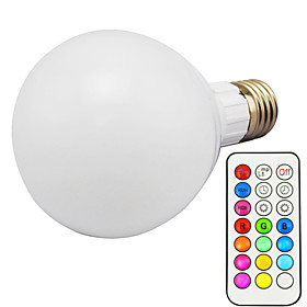 1pc 10 W 800 lm E26 / E27 LED Smart Bulbs G95 1 LED Beads Integrate LED Dimmable / Remote-Controlled / Decorative RGBWW 85-265 V / 1 pc / RoHS
