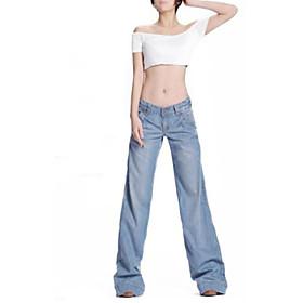Women' s Fashion Casual Loose Wide Leg Jeans