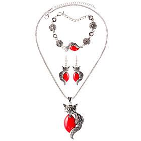 Schmuck Halsketten \/ Ohrringe \/ Armband Halskette \/ Armband \/ Halskette \/ Ohrringe Modisch \/ Bohmen-Art Alltag \/ Normal 1 Set Damen