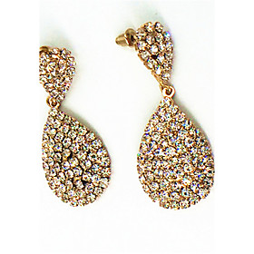 Earring Rhinestone Bicone Shape Drop Earrings Jewelry Women Fashion Halloween / Wedding / Party / Daily / Casual