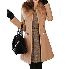 Women's Going out Street chic Dress Long Sleeve Wool Winter