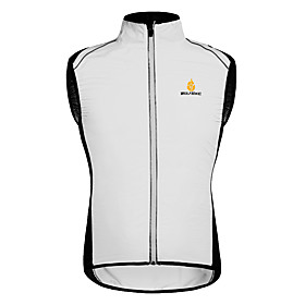 WOSAWE Cycling Vest Unisex Bike Vest/Gilet Windbreakers Quick Dry Windproof Front Zipper Breathable Lightweight Materials Reflective 5238683