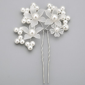 Women's / Flower Girl's Alloy / Imitation Pearl / Acrylic Headpiece-Wedding / Special Occasion Hair Pin 1 Piece