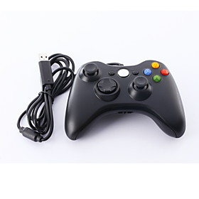 Wired USB Controller for PC  Xbox 360 (Black-White)