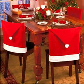 6Pcs Christmas Chair Covers Christmas Decorations6550CM