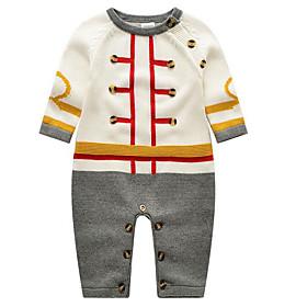 Ensemble de Vêtements bébé Couleur Pleine Décontracté / Quotidien-Coton-Printemps Automne-