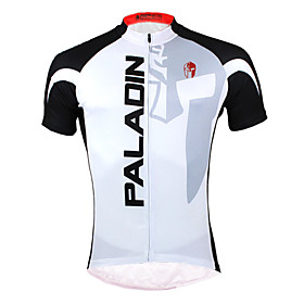 ILPALADINO Cycling Jersey Men's Short Sleeve Bike Jersey Tops Quick Dry Ultraviolet Resistant Front Zipper Breathable Back Pocket 1566257