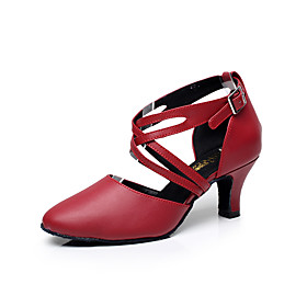 Women's Dance Shoes Leather Latin Shoes Buckle Sandal Low Heel Customizable Black / Red / Indoor / Performance / Practice / Professional / EU41 Category:Latin Shoes; Upper Materials:Leather; Embellishment:Buckle; Lining Material:Fabric; Heel Type:Low Heel; Actual Heel Height:1.97; Range:EU41; Style:Sandal; Heel Height(inch):1 - 2; Outsole Materials:Leather; Occasion:Professional,Beginner,Practice,Performance,Indoor; Closure Type:Buckle; Customized Shoes:Customizable; Brand:Shall We; Listing Date:10/17/2016; Foot Length:; SizeChart1_ID:2:468; Size chart date source:Provided by Supplier.; Base Categories:Dance Shoes,Shoes,Apparel  Accessories; Popular Country:Germany,France,United States; Special selected products:StockEuro,hot