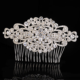 Crystal Fabric Alloy Tiaras Hair Combs 1 Wedding Special Occasion Party / Evening Headpiece plus size,  plus size fashion plus size appare