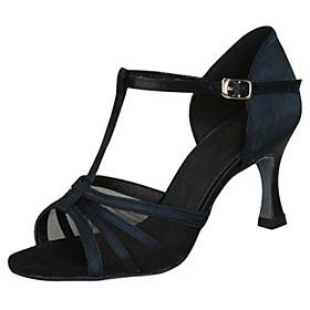 Customizable Women's Ballroom Latin Dance Shoes Satin Jazz / Swing Shoes / Salsa Sandals / Practice / Beginner