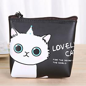 Cartoon Cat Pattern PU Leather Change Purse (5324602) photo