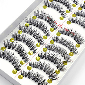 10 Pairs False Eyelashes Fake Lashes Individual Lash Luster Lash Extensions High Quality Clear Strip Lash