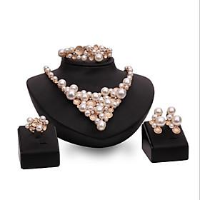 Schmuck Halsketten \/ Ohrringe \/ Ringe \/ Armband Braut-Schmuck-Sets Imitierte Perlen \/ Strass Kunstliche Perle \/ Modisch \/ bezaubernd