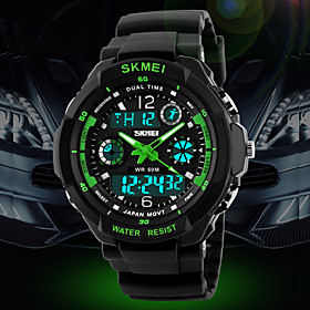SKMEI Men's Watch Sport Watch Japanese Quartz Analog-Digital Watch Dual Time Zones Chronograph Calendar LCD Cool Watch Unique Watch Fashion Watch
