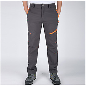 Men's Hiking Pants Outdoor Waterproof Thermal / Warm Quick Dry Windproof Breathable Lightweight Materials Pants / Trousers Bottoms 5314075