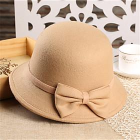 Women Tweed Fedora Hat,Party Spring / Fall / Winter