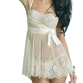 Women Chemises  Gowns Nightwear , Core Spun Yarn / Spandex