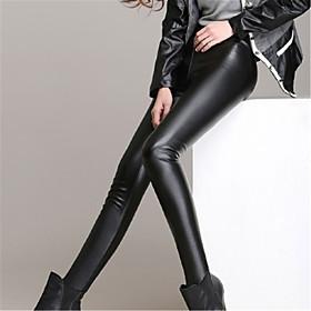 PU-Legging-Vrouw-Legging