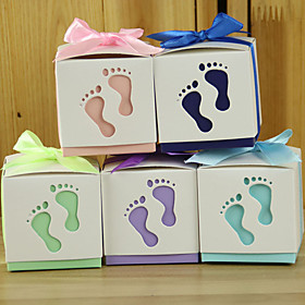Wedding gifts 12 Piece/Set Feet Favor Holder Pearl Paper Favor Boxes / Gift Boxes