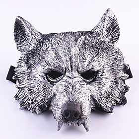 Halloween Mask Masquerade Mask Wolf Head Horror Rubber 1pcs Pieces Adults' Gift