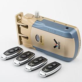 WAFU Keyless Smart Remote Door Lock  Wireless Invisible Anti-theft Lock  Security Door Lock with 4 Remote Keys