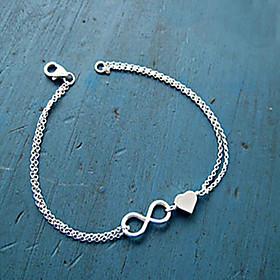 Women's Chain Bracelet Charm Bracelet - Heart, Love, Infinity Unique Design, Basic, Fashion Bracelet Gold / Silver For Party Gift Daily