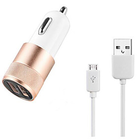 Charger Kit / Multi Ports Car Charger Other 2 USB Ports with Cable for Apple Sumsang Xiaomi Haiwei and Other Cellphone(5V  2.1A) 5349098