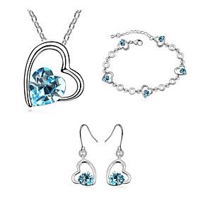 Schmuck Halsketten \/ Ohrringe \/ Armband Schmuckset Kristall Modisch Alltag 1 Set Damen Rose \/ Marinenblau \/ Grun Hochzeitsgeschenke