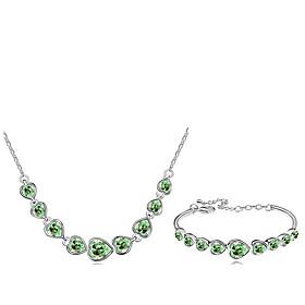 Schmuck Halsketten \/ Armband Schmuckset Kristall Modisch Alltag 1 Set Damen Rose \/ Marinenblau \/ Wei \/ Grun Hochzeitsgeschenke