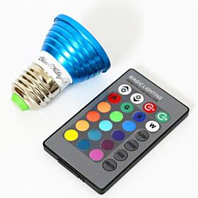 E26/E27 LED Spotlight MR16 1 High Power LED 240 lm RGB Decorative AC 85-265 V 1 pcs