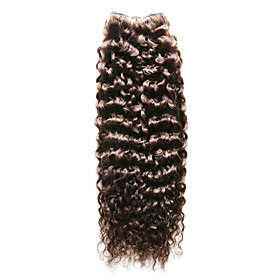 1 piece jerry curl human hair weaves dark brown 12inch and 16inch human hair extensions 5351630