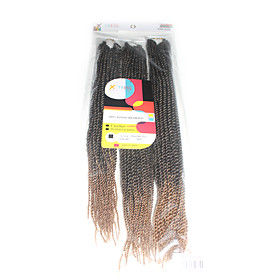 Senegal Twist  T1b/27 Synthetic Hair Braids 18inch 20inch 22inch Kanekalon 81 Strands 200g  Multipal Pack for Full Heads