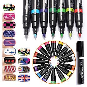 1Pcs Nail Art Kits Nail Art 3D Nail Painting Pen Dotted Pen Painting Flowers Pen Manicure Tool Kit  Makeup Cosmetic Nail Art DIY
